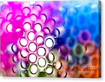 Drinking Straws 1 Canvas Print by Jane Rix