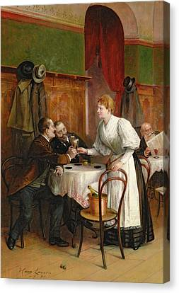 Drinking Their Health Canvas Print by Hans August Lasser