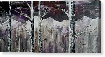Dripping Aspen Canvas Print by Chad Rice