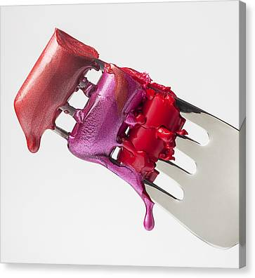 Dripping Lipstick Canvas Print by Garry Gay
