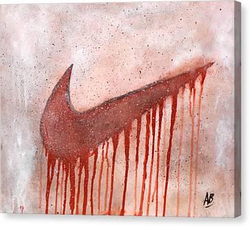 Dripping Nike Canvas Print by Anwar Braxton