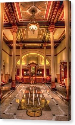 Canvas Print featuring the photograph Driskill Hotel Check-in by Tim Stanley