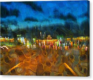 Drive By Night Canvas Print by Wendy J St Christopher