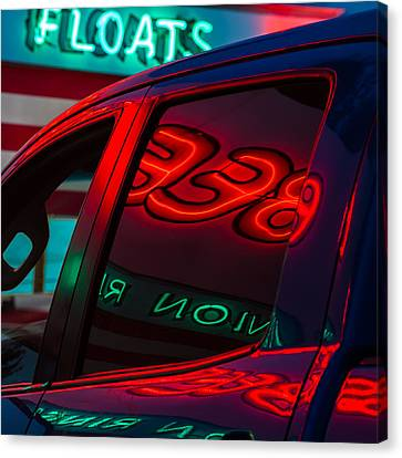 Drive In Diner Canvas Print