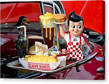 Drive-in Food Classic Canvas Print by Carolyn Marshall