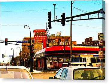 Drive In Liquors Canvas Print