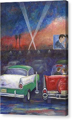 Drive-in Movie Part One Canvas Print by Linda Mears