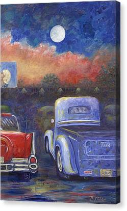 Drive-in Movie Part Two Canvas Print by Linda Mears