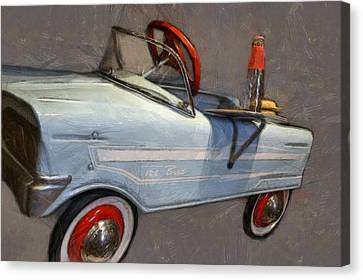 Drive In Pedal Car Canvas Print by Michelle Calkins