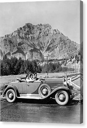 Terminal Canvas Print - Drive In The Canadian Rockies by Underwood Archives