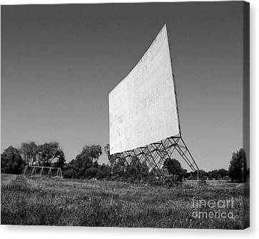Canvas Print featuring the photograph Drive In Theater by Tom Brickhouse