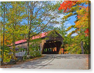 Drive In To Albany Covered Bridge #49 Canvas Print by Shell Ette