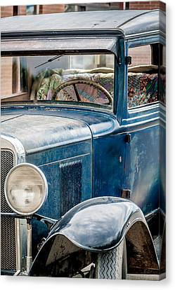 Canvas Print featuring the photograph Drive Into The Past With A Chevy by Dawn Romine