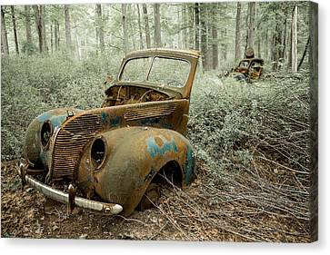Drive To The Past Canvas Print by Sara Hudock