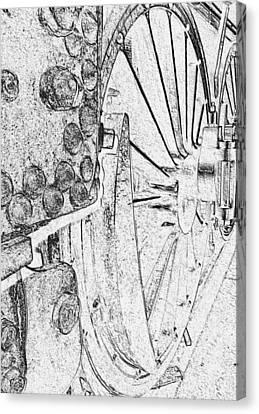 Drive Wheels Dm  Canvas Print by Daniel Thompson