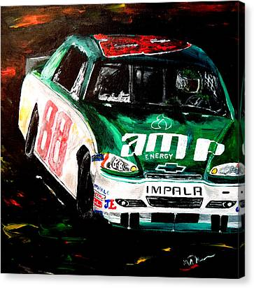 Jr Motorsports Canvas Print - Driven  by Mark Moore