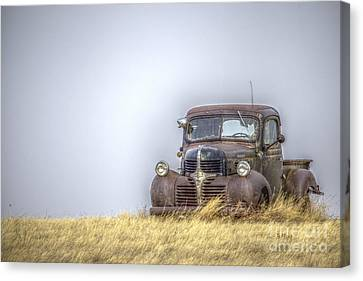 A Rusty Abandoned Truck Near Sturgis South Dakota Canvas Print