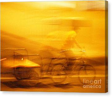 Canvas Print featuring the photograph Driver by Lin Haring