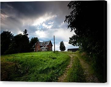 Driveway Home Canvas Print