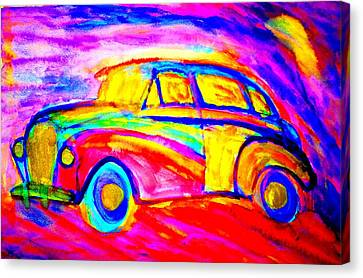 Driving Home Late At Night    Canvas Print by Hilde Widerberg
