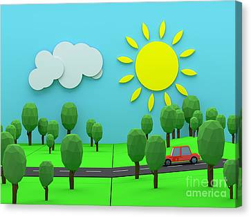 Pleasure Driving Canvas Print - Driving Through Countryside by Jan Brons