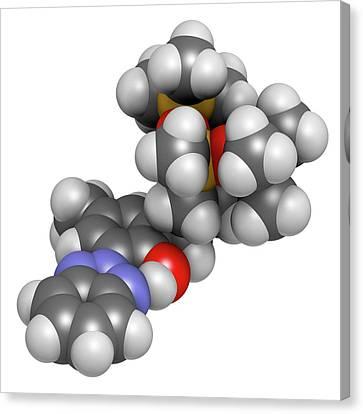 Drometrizole Trisiloxane Molecule Canvas Print by Molekuul