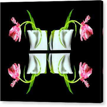 Droopy Tulips Canvas Print