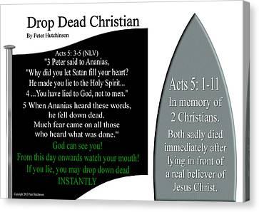 Drop Dead Christian Canvas Print