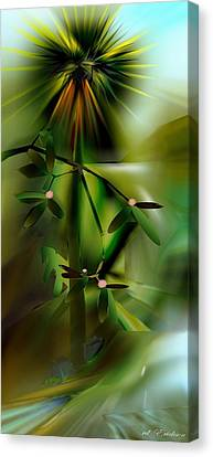 Canvas Print featuring the digital art Drop To The Beach by Roy Erickson