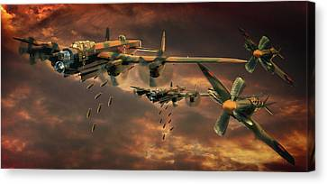 Drop Zone Canvas Print by Steven Agius