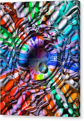 Drops Color By Nico Bielow Canvas Print by Nico Bielow
