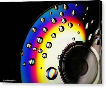 Drops Of A Rainbow Canvas Print by Alexandra  Rampolla
