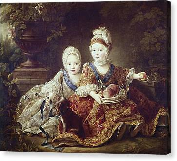 Drouais, Fran�ois Hubert 1727-1775. The Canvas Print