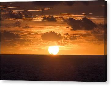 Drowning Sun Canvas Print by Ocean Photos