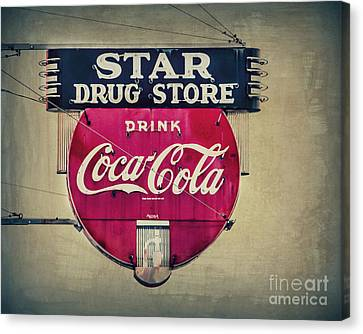 Drug Store Neon Canvas Print by Perry Webster