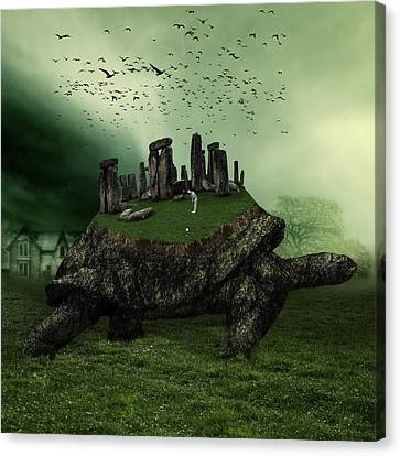 Odd Canvas Print - Druid Golf by Marian Voicu