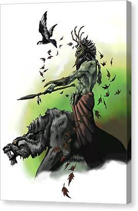 Dungeon Canvas Print - Druid by Matt Kedzierski
