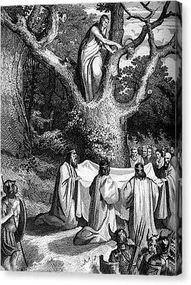 1874 Canvas Print - Druids Worshipping by Collection Abecasis