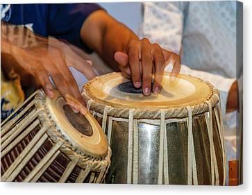 Drum Player's Hands, Varanasi, India Canvas Print by Ali Kabas