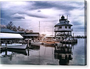 Drum Point In Infrared Watercolor Canvas Print
