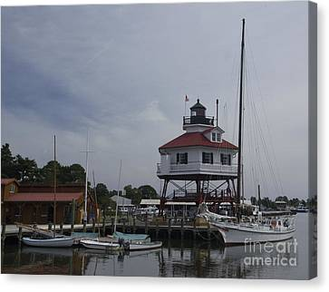 Drum Point Light Canvas Print by ELDavis Photography