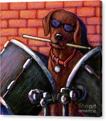 Drum Roll - Chocolate Canvas Print
