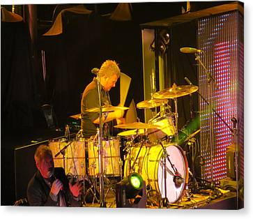 Drumer For Newsong Rocks Atlanta Canvas Print by Aaron Martens