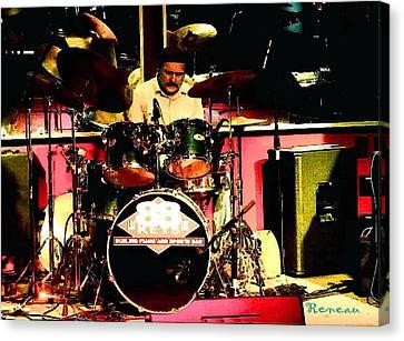 Drummer At 88 Keys Seattle Wa Canvas Print