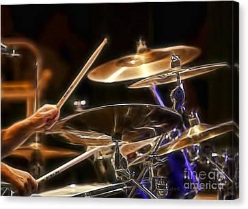 Drummer Canvas Print by Clare VanderVeen
