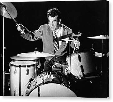 Drummer Gene Krupa Canvas Print by Underwood Archives