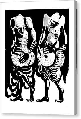 Drummers Canvas Print by Vadim Vaskovsky