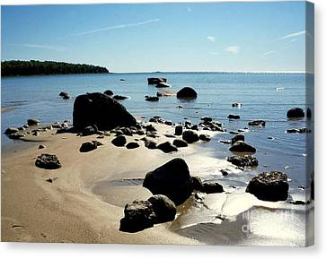 Drummond Shore 2 Canvas Print by Desiree Paquette