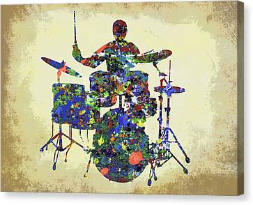 Drums In The Spotlight Canvas Print