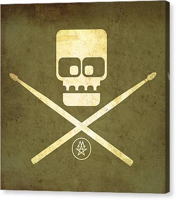 Drumskull Canvas Print by Milton Thompson
